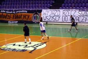 1 marca 2008. Halowy turniej kibiców Chrobrego Głogów.