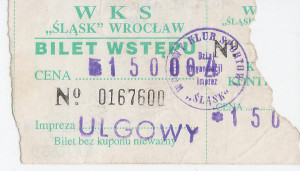 Pociągowy wyjazd w 100 osób do Wrocławia (niedziela, 18.09.1994). Od tego zaczęła się wielka przygoda z Chrobrym...